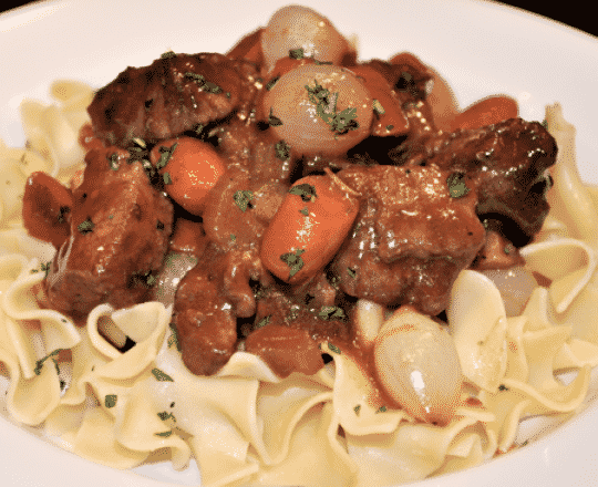 Beef Bourguignon & Buttered Parsley Noodles
