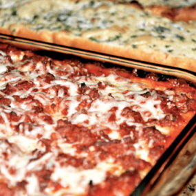Meat Lasagna and Zesty Roasted Garlic Bread
