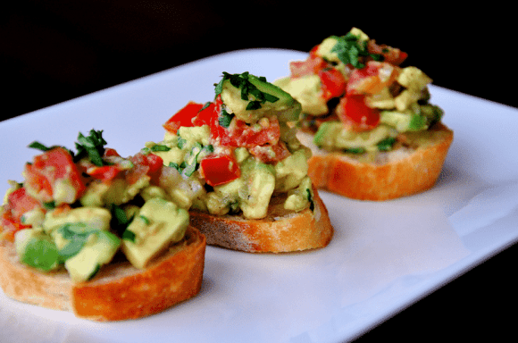 Guacamole Bruschetta Recipe