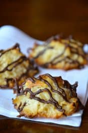 Coconut Macaroons with Chocolate from justataste.com #recipe