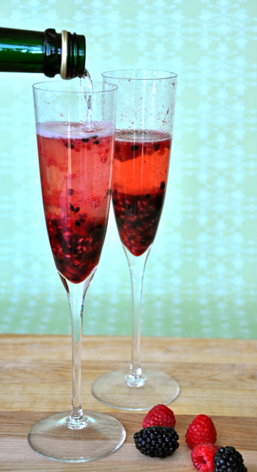 Spring Berry Champagne Cocktail Recipe — Dishmaps