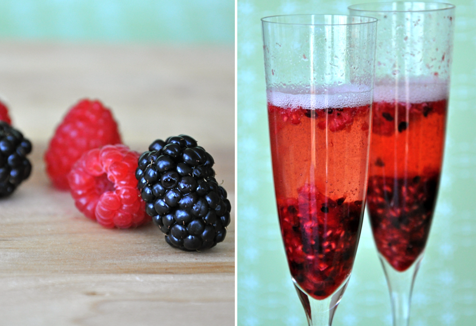 Berry-Infused Champagne Cocktail | Just a Taste