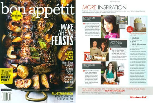 Just a Taste in Bon Appétit Magazine