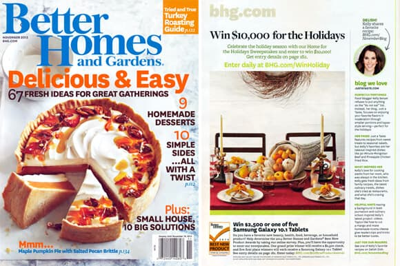 Just a Taste in Better Homes & Gardens Magazine