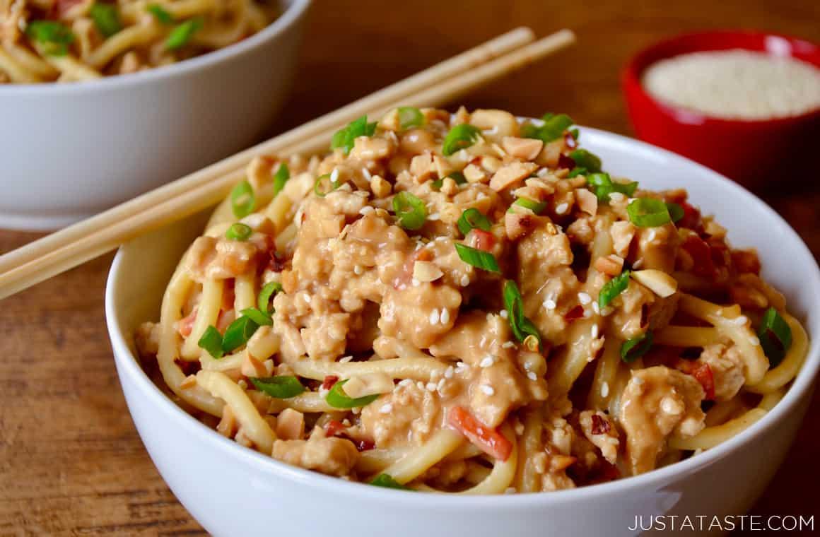 Dan Dan Noodles with Chicken | Just a Taste