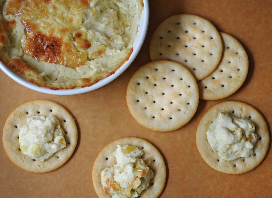 Hot and Creamy Artichoke Dip from justataste.com