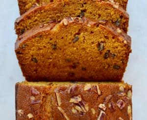 The Best Pumpkin Bread sliced