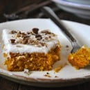 Pumpkin Bars with Cream Cheese Frosting from justataste.com