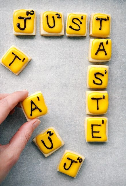 """""""Words With Friends"""" Cookies from justataste.com #recipe"""