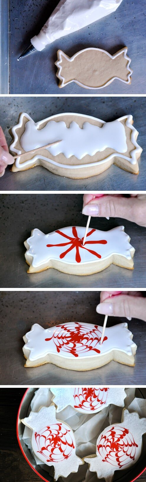 Peppermint Candy Cookies from justataste.com #recipe