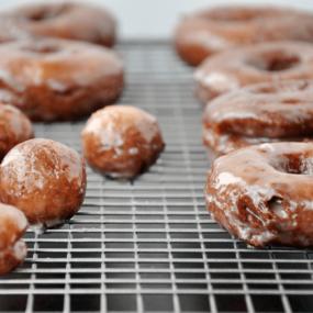 Glazed Sour Cream Doughnuts