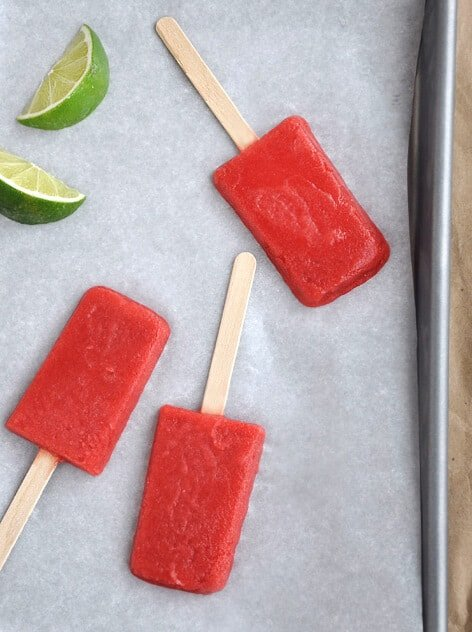 Just a Taste | Strawberry Margarita Popsicles