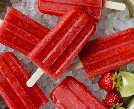 Strawberry Margarita Popsicles