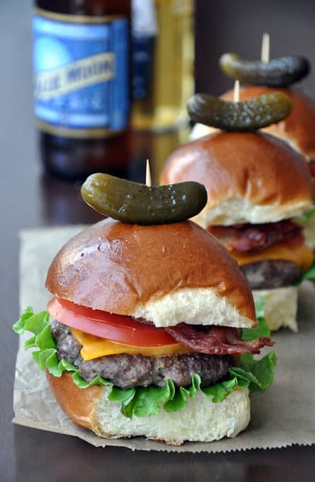 Grilled Sirloin Sliders with Crispy Bacon