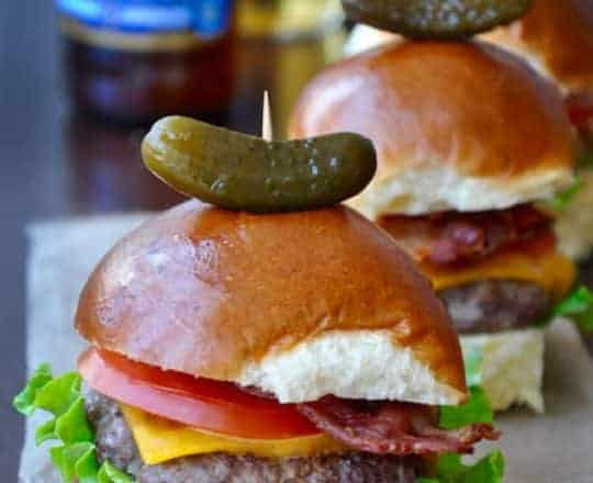 Grilled Sirloin Sliders with Bacon