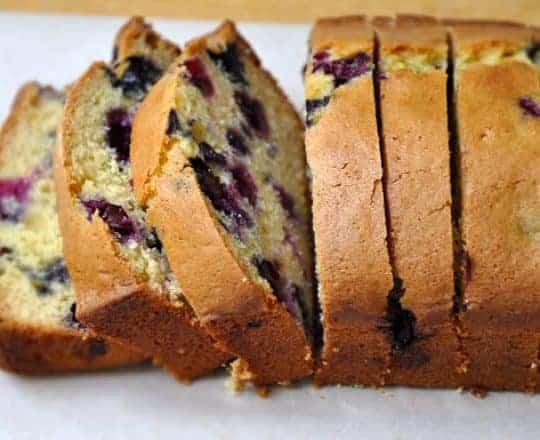 Blueberry Orange Juice Bread