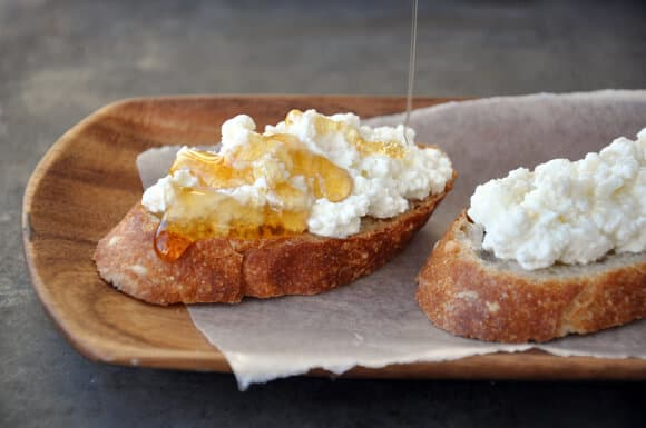 Ricotta and Honey Crostini