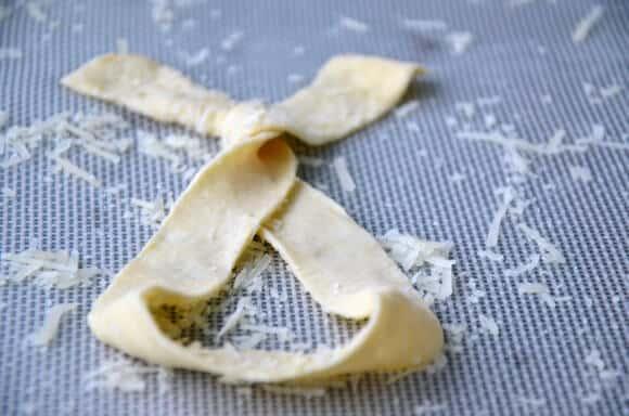 Cheesy Puff Pastry Pretzels
