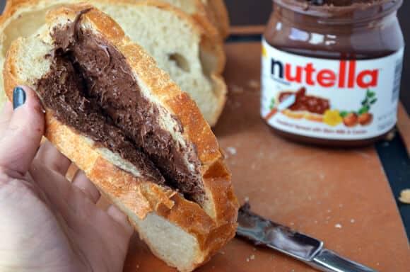 Banana and Nutella Stuffed French Toast