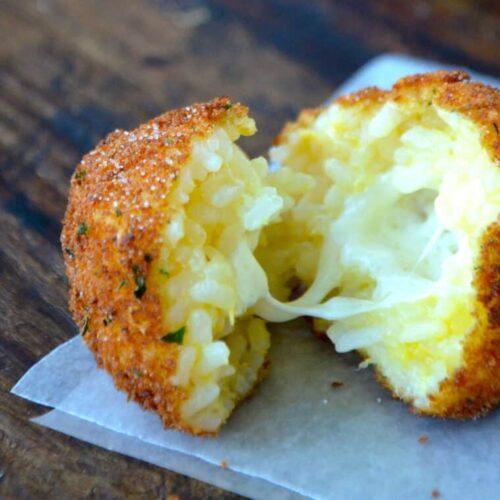 Arancini (Rice Balls) with Marinara Sauce | Just a Taste