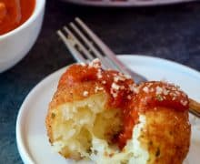 Arancini (Rice Balls) with Marinara Sauce