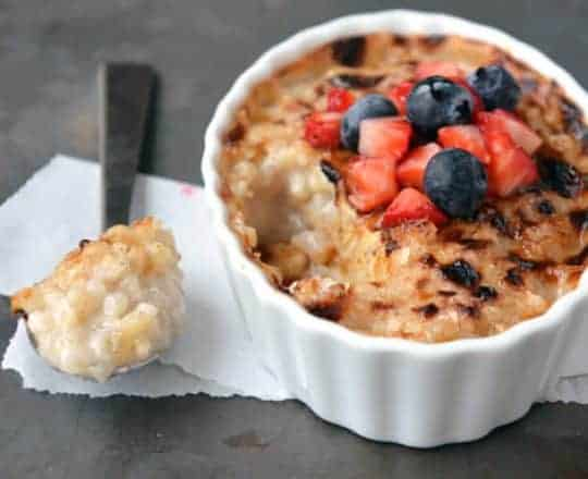 Rice Pudding Creme Brulee