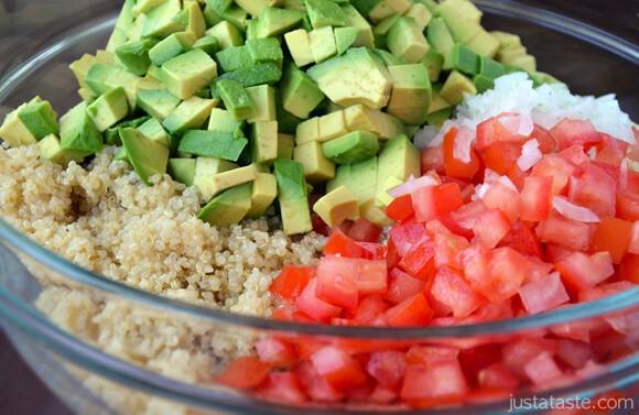 Quinoa Guacamole Salad