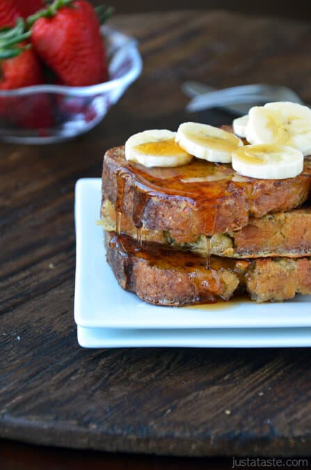 Banana bread french toast just a taste banana bread french toast forumfinder Image collections