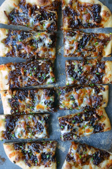 FRIDAY: Caramelized Balsamic Onion and Gruyere Pizza
