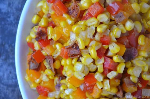 Confetti Corn with Bacon