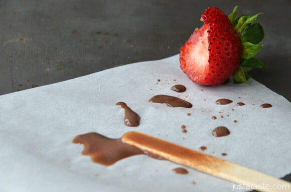 Chocolate Covered Strawberry Fudgesicles