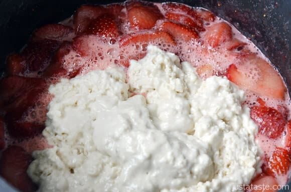 Stovetop Strawberry Dumplings
