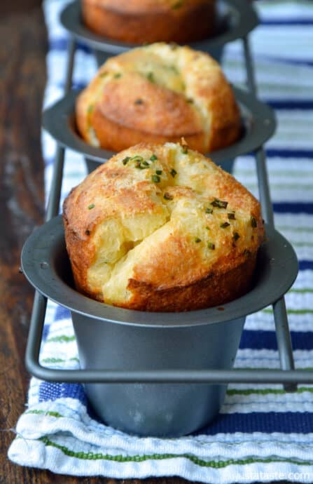 Gruyere Chive Popovers Just A Taste