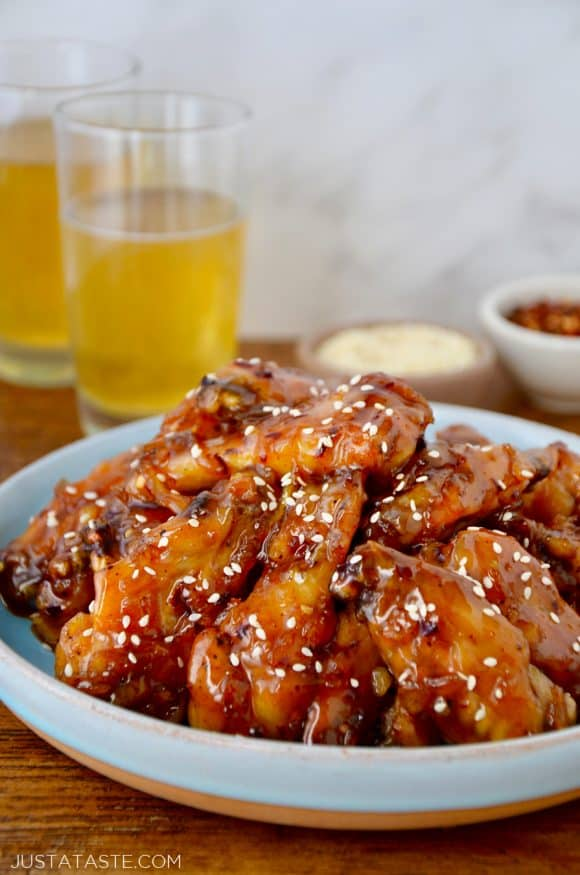 Crispy Baked Orange Chicken Wings Just A Taste