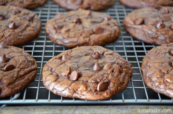 Espresso Chocolate Chip Brownie Cookies