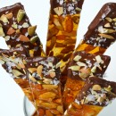 Chocolate-Dipped Pumpkin Seed Brittle with Sea Salt