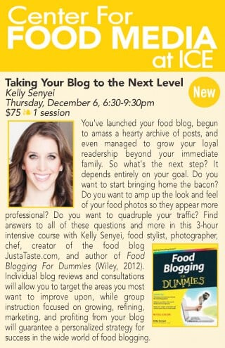Food Blogging Class at ICE