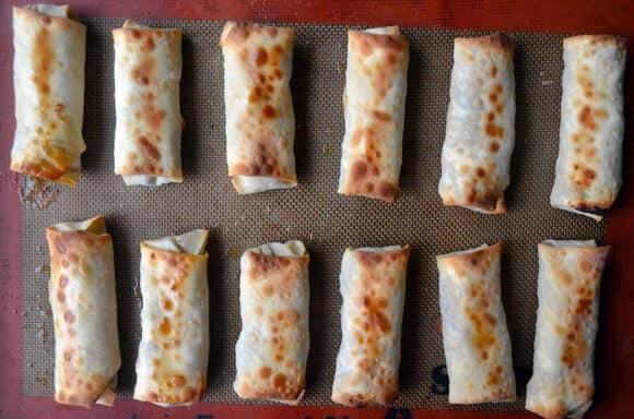 Crispy Baked Chicken Spring Rolls