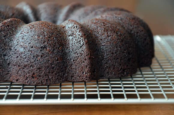 Chocolate Gingerbread Bundt Cake from justataste.com
