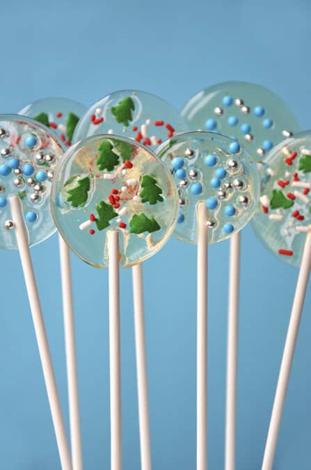 Homemade Holiday Lollipops from justataste.com