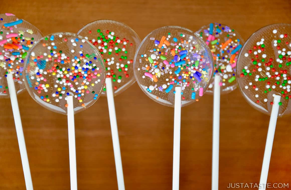 Easy Homemade Lollipops | Just a Taste