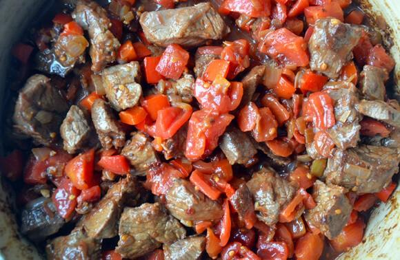 Chipotle Chili con Carne from JustaTaste.com