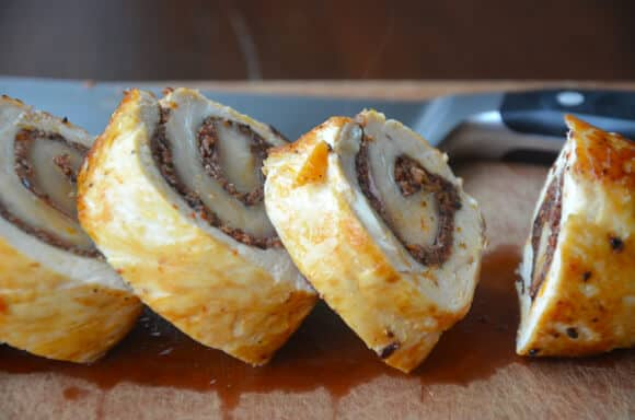 Chicken Roulades with Tapenade and Prosciutto