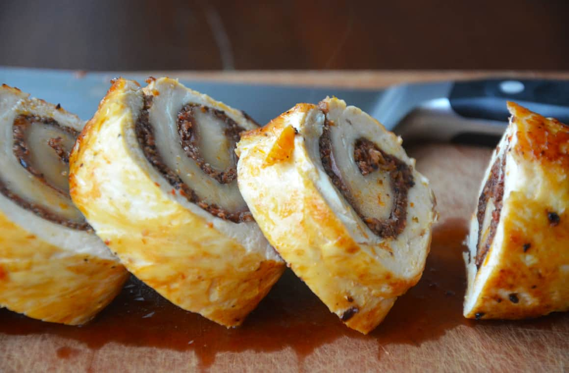 MONDAY: Chicken Roulades with Tapenade and Prosciutto