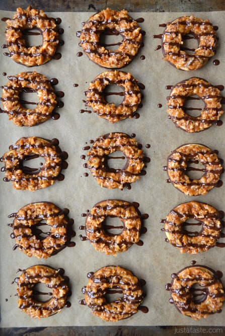 Homemade Samoas Girl Scout Cookies