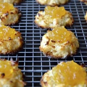 Coconut Macaroons with Homemade Pineapple Jam