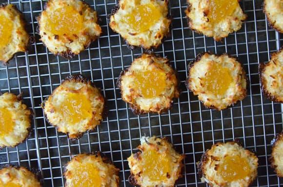 Coconut Macaroons with Homemade Pineapple Jam