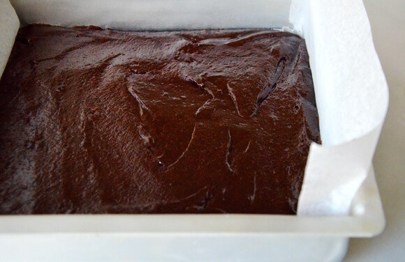 Marshmallow Brownies with Salted Almonds