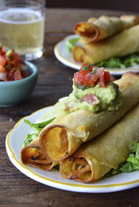 Healthy Baked Chicken and Cheese Taquitos