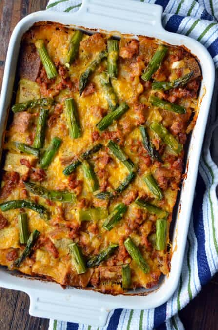 overnight egg and breakfast sausage strata recipe